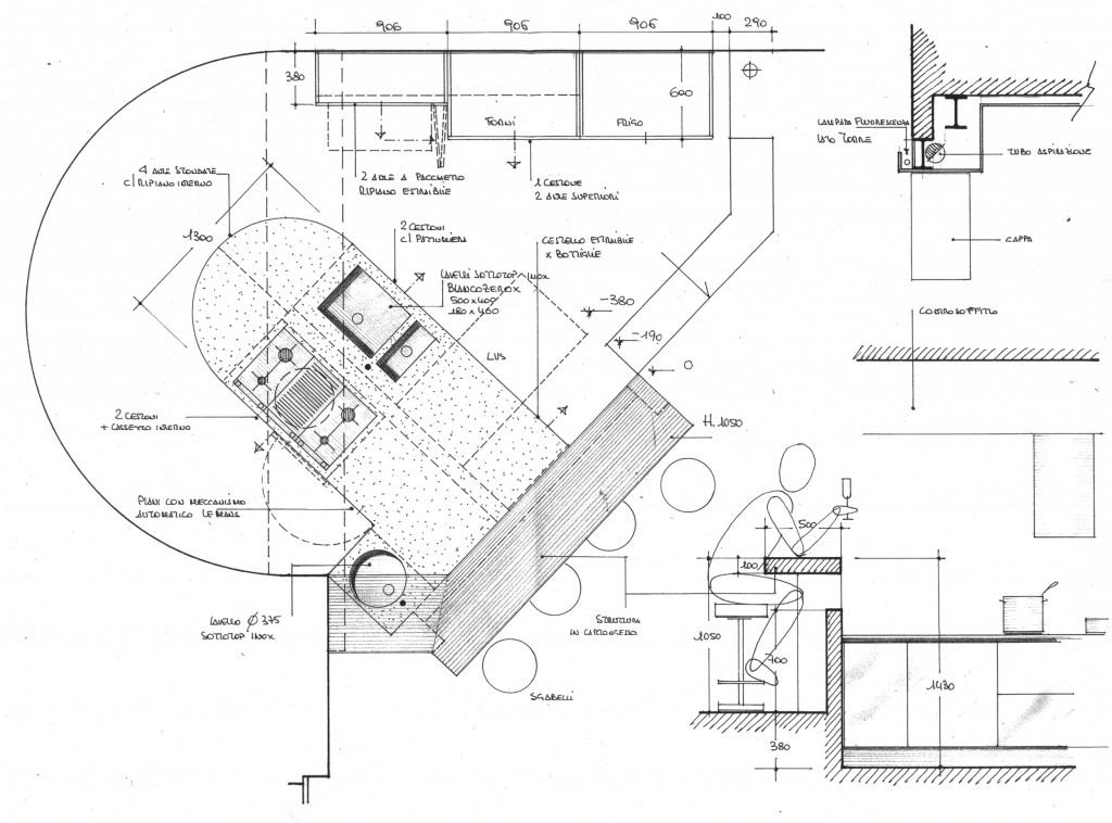Area kitchen - plan